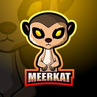 Дизайн логотипа талисмана сурикат киберспорт