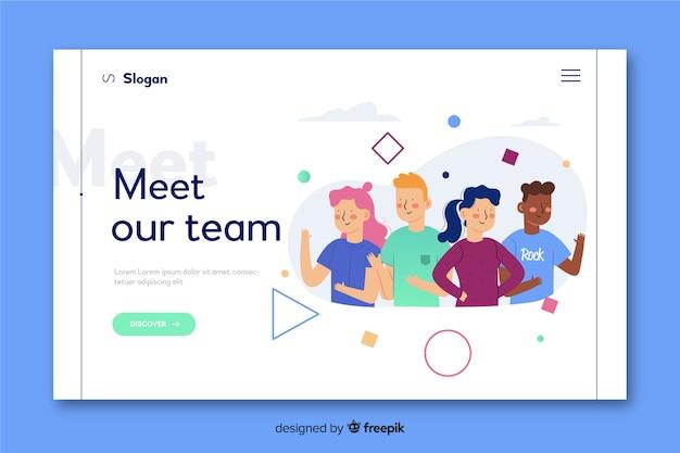 방문 페이지에 대한 팀 개념을 만나보세요