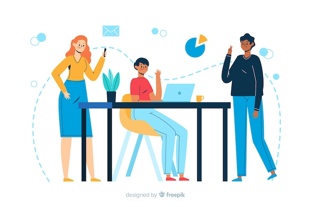 Meet our team landing page illustration
