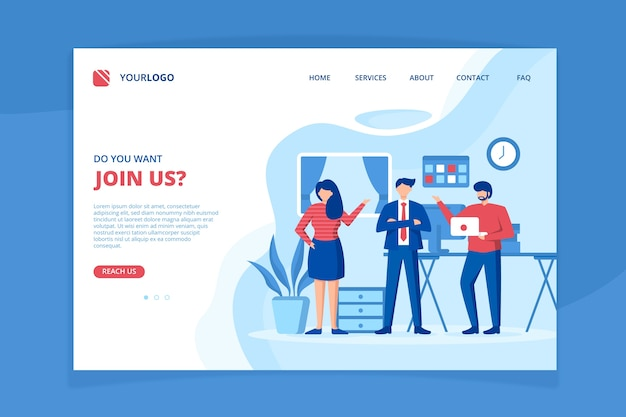 Meet our team landing page template