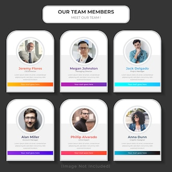 Meet our team web template