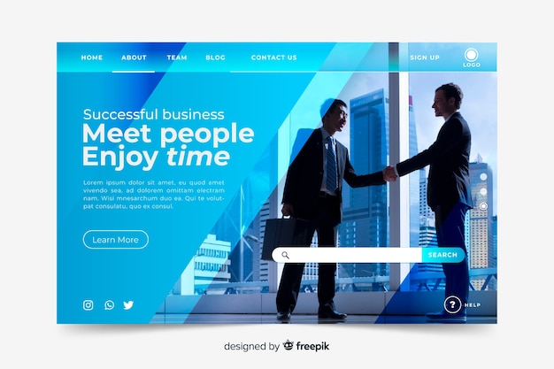 Meet people business landing page