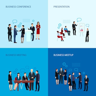 Meeting and conference concept with business people group