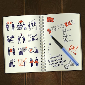 Meeting sketch notepad