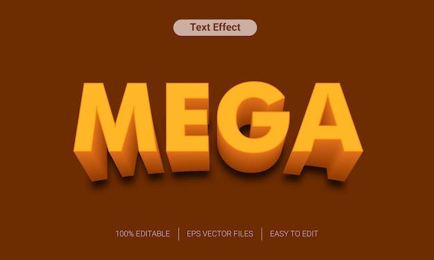 Mega 3d text style effect mockup