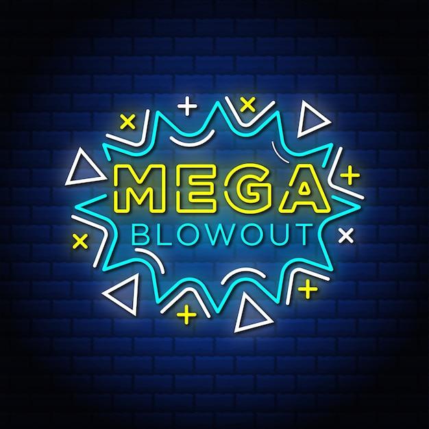 Mega blowout sales promotion tag.
