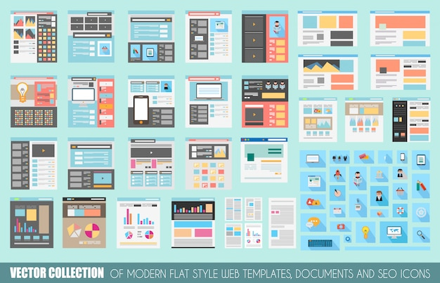 Mega collection of flat style website templates