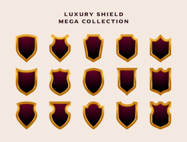 Mega collection set of luxury shield emblem badge