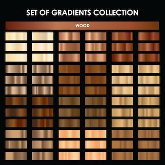Mega collection of wood gradient Premium Vector