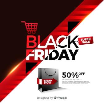 Mega discount black friday banner