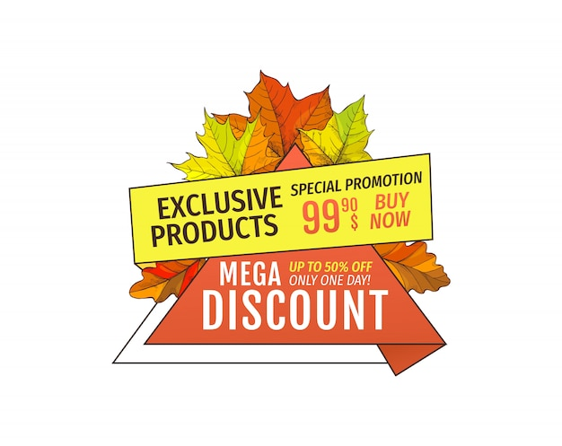 Mega discounts on exclusive products special price