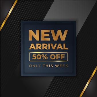 Мега флэш-продажи баннеров с черным золотом для продаж