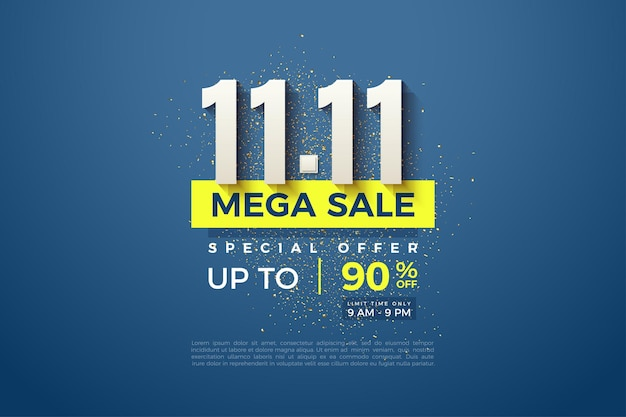Mega sale at 1111 with a clean design finish