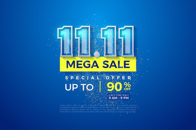 Mega sale at 1111 with double border