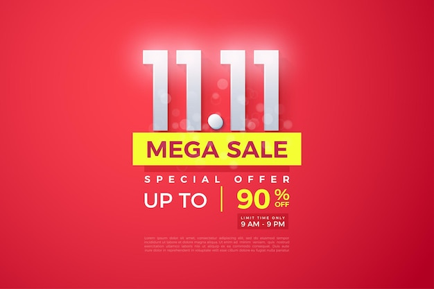 Mega sale at 1111 with a luxurious design