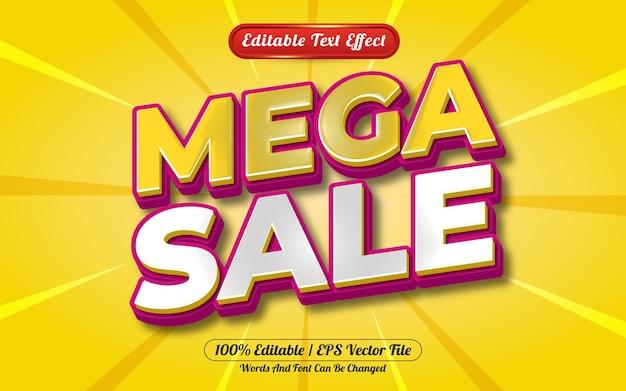 Mega sale 3d editable text effect template style