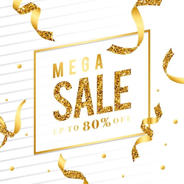 Mega sale 80% off sign
