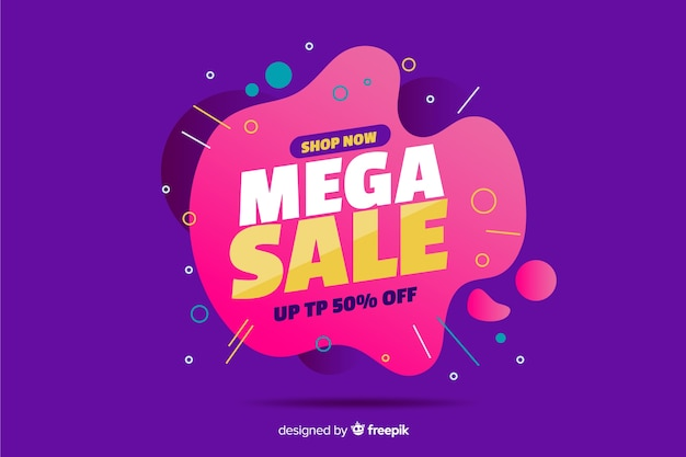 Mega sale abstract background