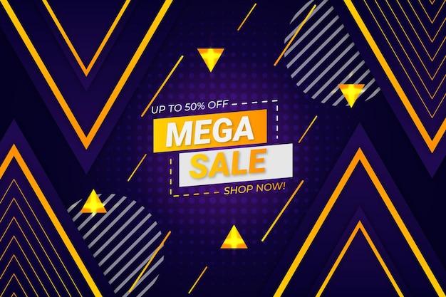 Мега распродажа фон темно-фиолетовый стиль