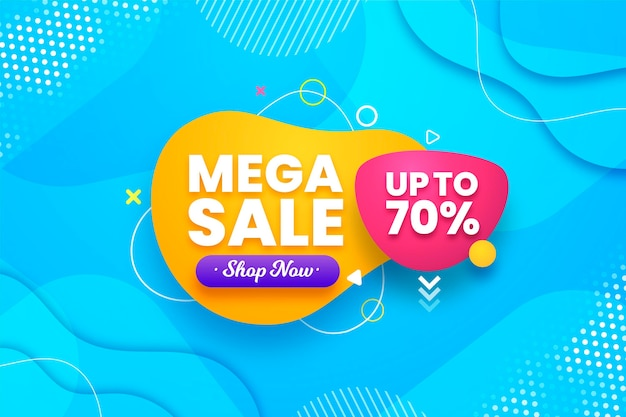 Mega sale background with discount