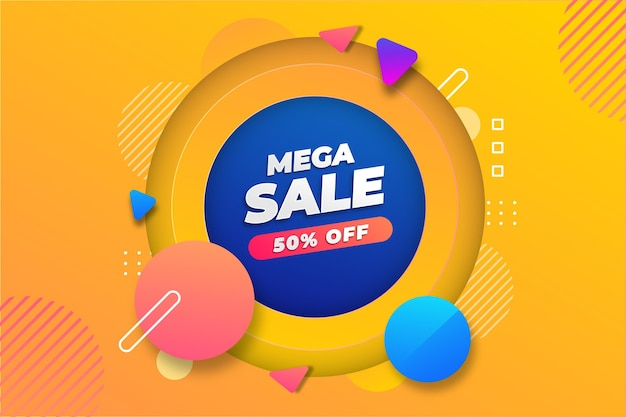 Mega sale background