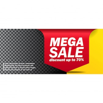 Mega sale banner arrow banner