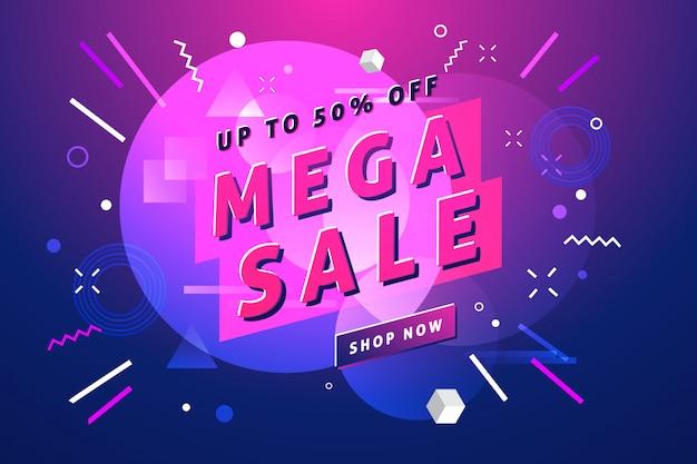 Mega sale banner template.