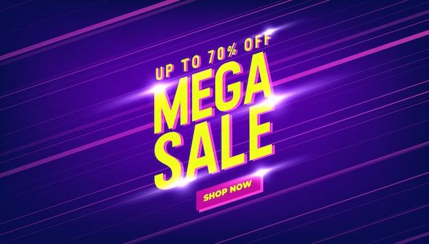 Mega sale banner template