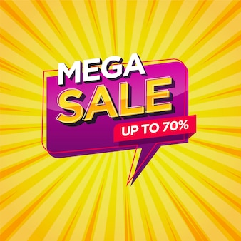 Mega sale banner  template