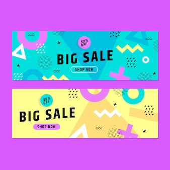 Mega sale banners template