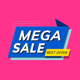 Mega sale best offer shop promotion advertisement