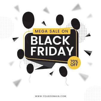 Mega sale on black friday banner design