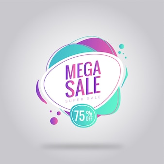 Mega sale card poster