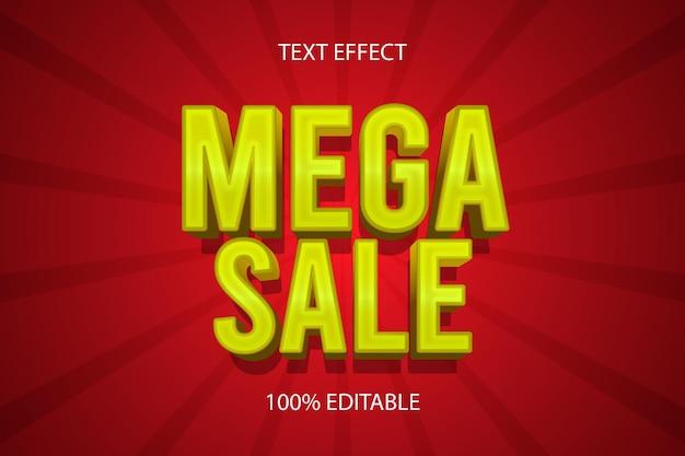 Mega sale color gold editable text effect
