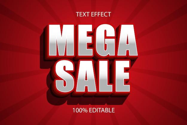 Mega sale color red editable text effect