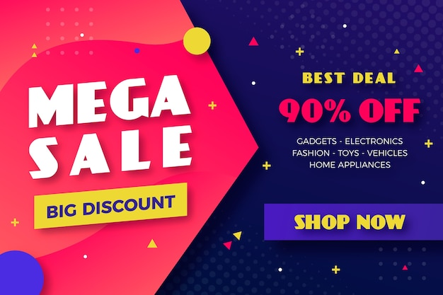 Mega sale discount business background