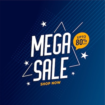 Mega sale discount poster template design