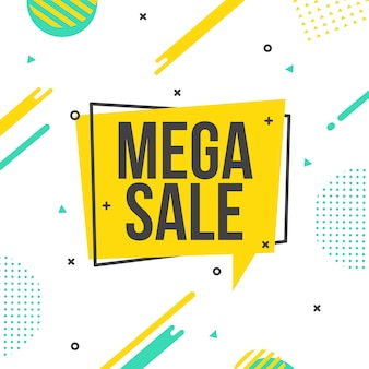 Mega sale/discount vector background template