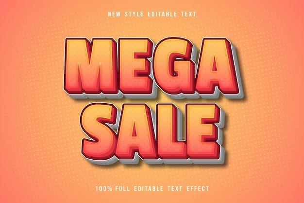 Mega sale editable text effect comic style