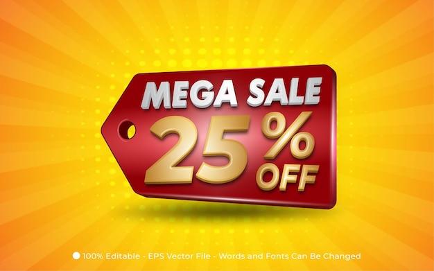 Mega sale editable text effect, style illustrations