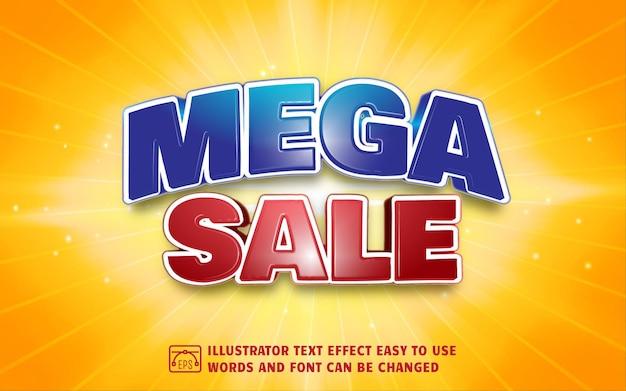 Mega sale - editable text effect style