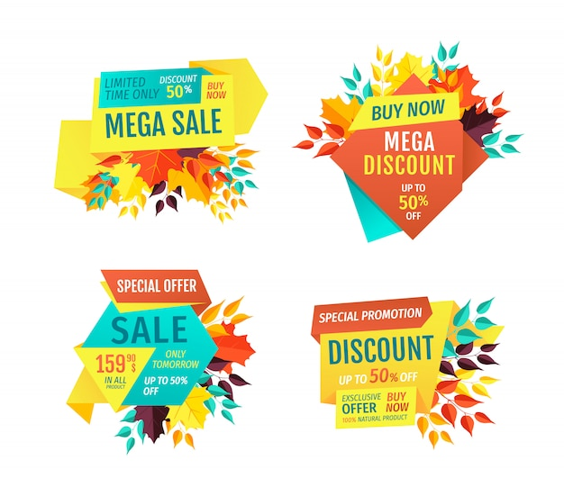 Mega sale exclusive products vector illustration