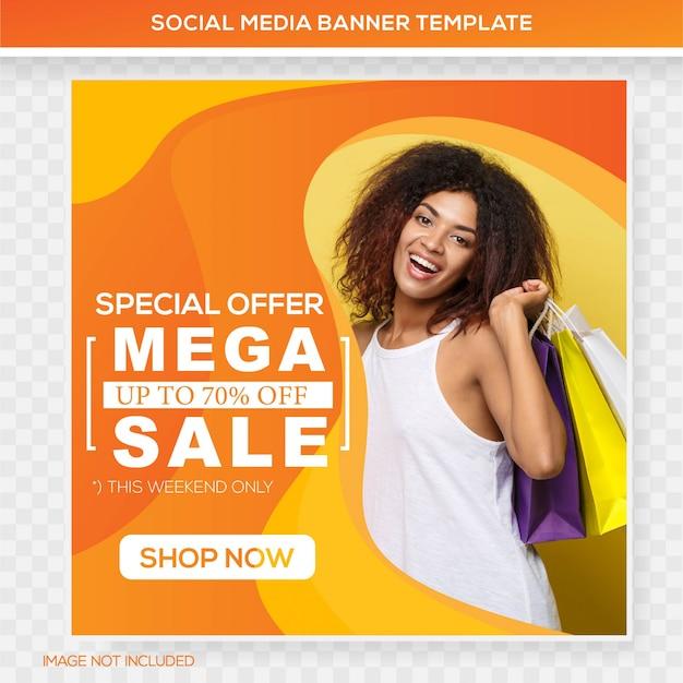 Mega sale feed banner