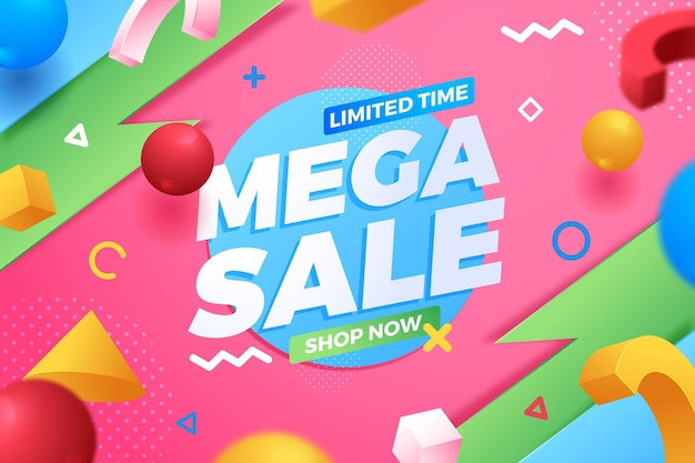 Mega sale limited time background