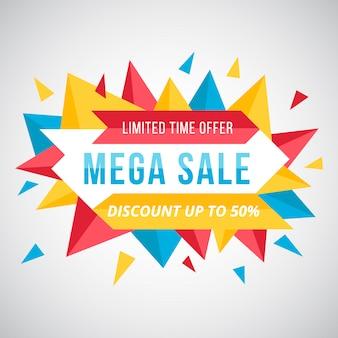 Mega sale logo background