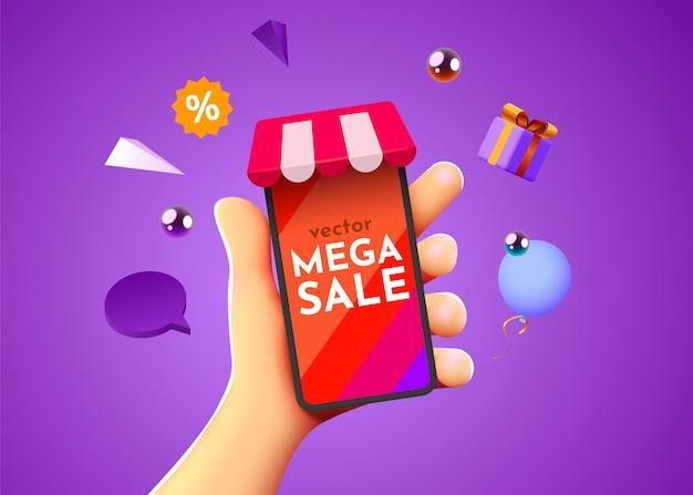 Mega sale mockup
