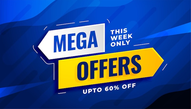 Mega sale and offers banner template