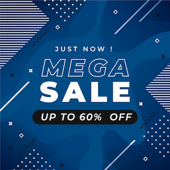 Mega sale pantone web banner