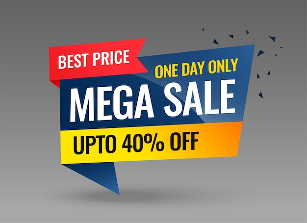 Mega sale promotional banner template design