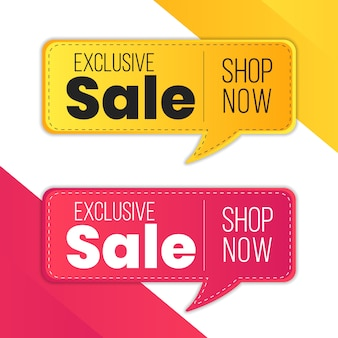 Mega sale red yellow exclusive sale special limited time offer percent discount label